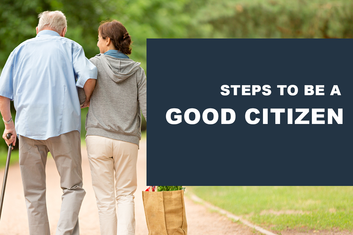 Steps to be a good citizen