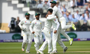 Pakistan celebrates during day four of the 1st NatWest Test match at Lord's Cricket Ground 2018. Image Source: Getty Images