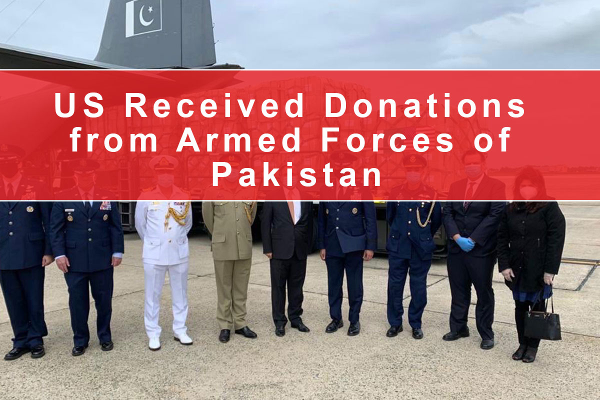 US Received Donations from Armed Forces of Pakistan