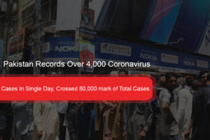 Cases In Single Day, Crossed 80,000 mark of Total Cases