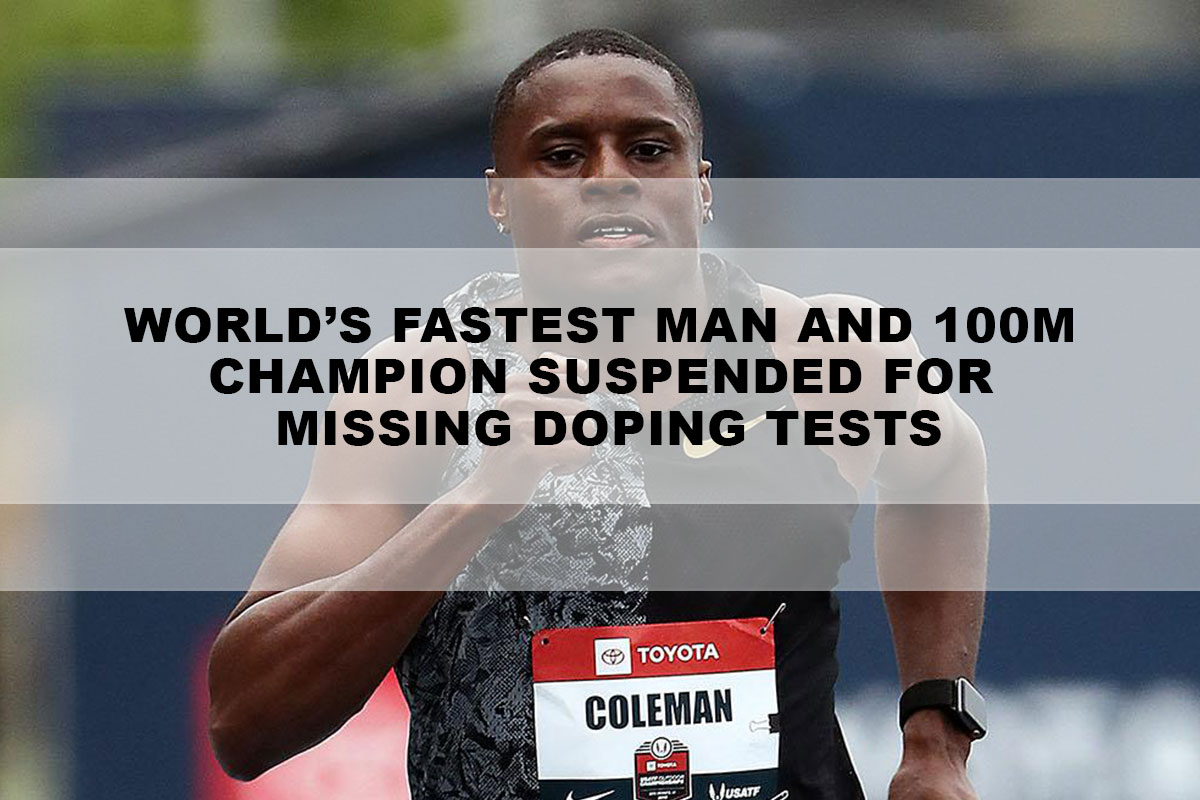 World's Fastest Man and 100m Champion Suspended for Missing Doping Tests